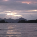 sunrise leaving Tonsina Bay