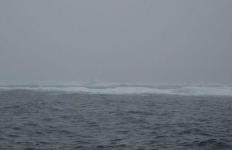 Crossing the sea ice in the fog 8/6