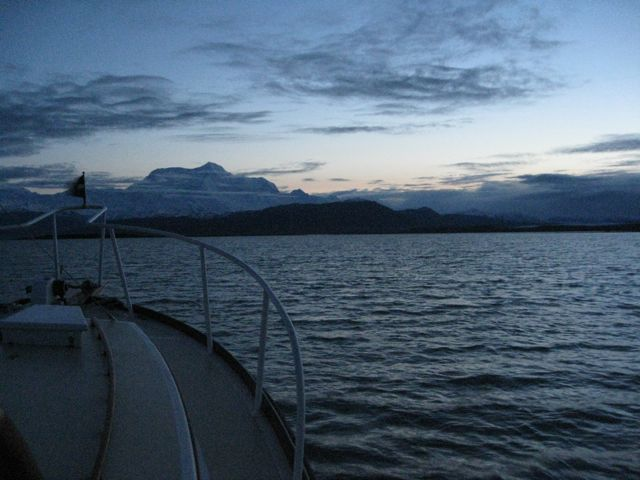 Mt. St. Elias before dawn