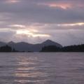 sunrise leaving Tonsina Bay