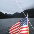 Kalinin Bay, Kruzof Is.,  last anchorage before Sitka