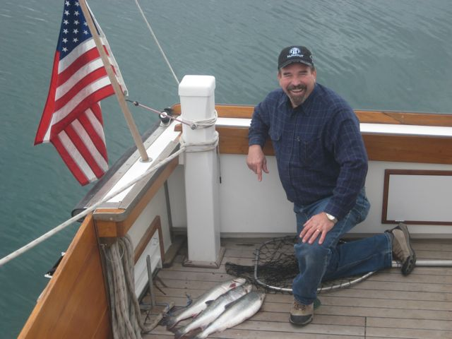 Pat and his  artic char!