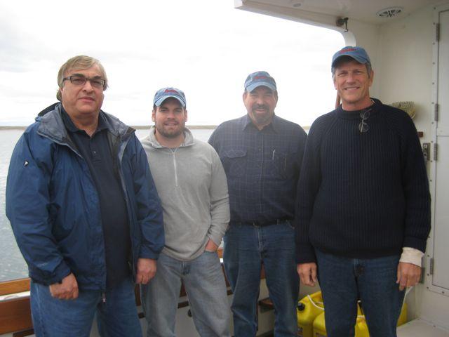 Peter Semotiuk with Shane, Pat and Walt